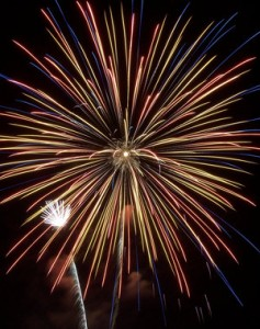 Computer Resolutions New Year firework