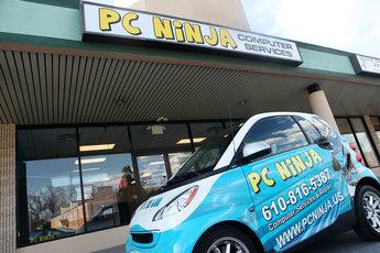 PC Ninja shop and car