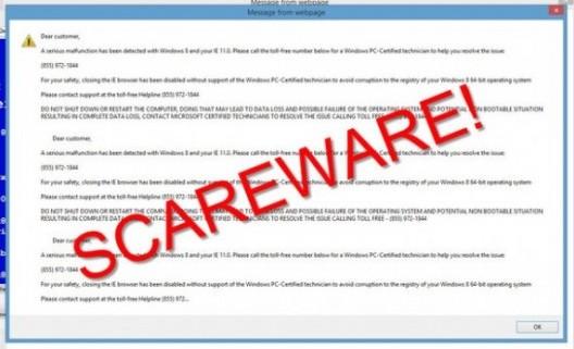 Scareware Alert Message
