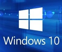 Windows 10 Operating System Logo on Desktop